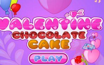 Žaidimas mergaitėms kuriame reikia gaminti Valentino tortą