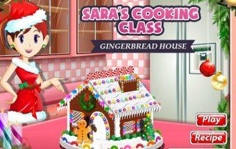 Maisto ruošimo žaidimas mergaitėms apie Šventų Kalėdų namelį