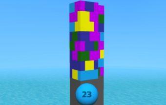 Loginis žaidimas bokšto griūtis.