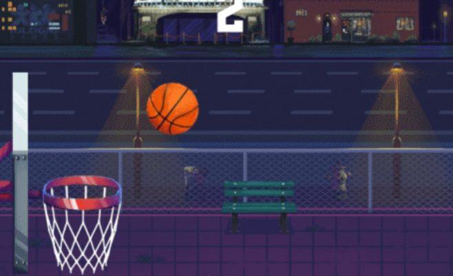Žaidimas gatvės krepšinis