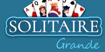 Kortų žaidimas solitaire grandai.