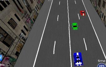 Žaidimas apie mašinos vairavimą pilname žmonių mieste.
