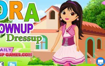 Doros žaidimas mergaitėms kuriame reikia auginti Dorą.