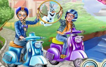 Barbės dviratis, barbių žaidimai - linksmas vairavimo žaidimas skirtas mergaitėms.