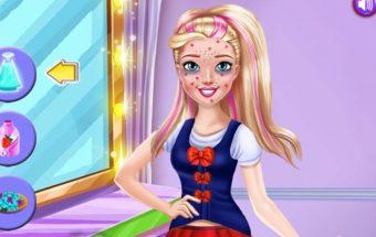 Barbės grožio salonas - linksmas mergaičių žaidimas, kuriame reikia padėti Barbei.