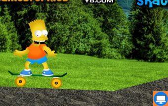 Žaidimas apie Barto Simpsono riedlentę, važiuok kaip Simpsonai