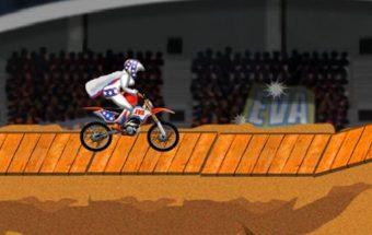 Akrobatiniai triukai su motociklais, žaidimai vaikams