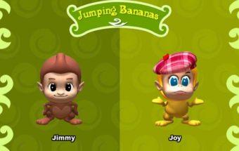 Beždžionėlių žaidimas vaikams apie tai kaip jos renka bananus