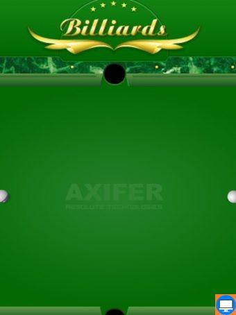 Žaidimas dviems 8 kamuoliukų biliardas arba Pulas. 8 kamuoliukų biliardo žaidimas kuriame spauskite Player 1