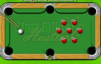 Žaidimas kuriame reikia žaisti biliardą