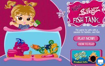Populiarus Bratz žaidimas merginoms apie Bratz akvariumą.