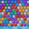 Spalvotų burbuliukų šaudyklės žaidimas - burbulų šaudymas.