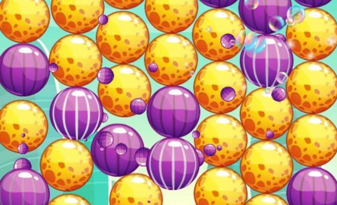 Burbulų šaudyklės žaidimas.