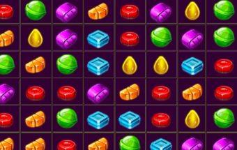 """Žaidimas """" Candy match """". Sunaikinkite vienodos spalvos saldainius."""