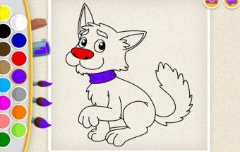 Spalvinimo paveiksliukas detektyvas katinas, spalvinimo žaidimas vaikams