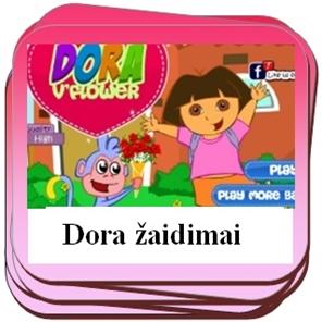 Žaidimais su Dora.