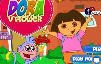 Mergaitė Dora yra gėlininkė. Tai spalvingas, kūrybingas ir linksmas žaidimas mergaitėms, kurios yra neabejingos grožiui bei augalams. Reikia padėti mažajai Dorai sukurti gėlių puokštes pagal pateiktąjį pavyzdį.