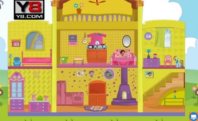 Dora žaidimas mergaitėms - Doros namelis