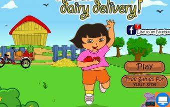 Žaidimas mergaitėms Dora su dviračiu. Linksmas, nuotaikingas ir įtraukiantis žaidimas skirtas mažosios Doros gerbėjams