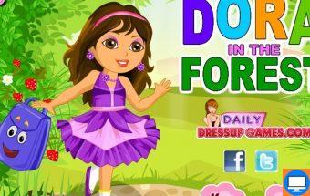 Žaidimas Dora atostogauja. Mažoji keliautoja Dora ruošiasi atostogų iškylai miške. Jums suteikiama galimybė padėti Dorai tinkamai pasipuošti : išrinkite atostogų rūbus, avalynę, papuošalus.