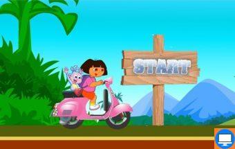 Mergaitės Doros motociklas. Žaidimas mergaitėms apie nuostabią superpanelę Dorą
