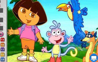 Kur Dora slepia savo skaičius. Tai naujas ir puikus loginis žaidimas vaikams apie superpanelę Dorą.