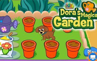 Dora žaidimas mergaitėms apie Doros sodą ir gėles