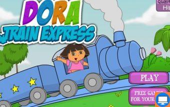 Doros žaidimas vaikams apie Doros traukinuką