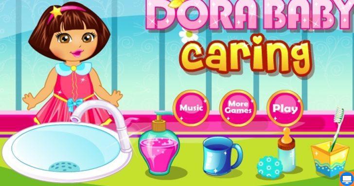 Šiame Doros žaidime reikės išvalyti mažai mergaitei dantukus, kad jie būtų sveiki ir švarūs.