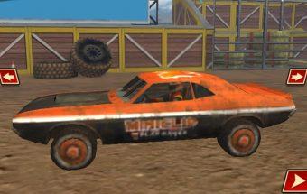 Mašinų lenktynės vyksta mieste, drifto žaidimas.