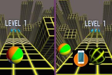 Du kamuoliai 3D žaidimas