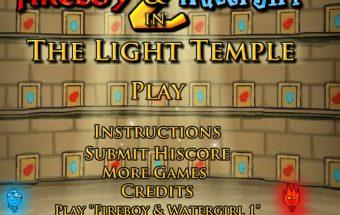Fireboy and Watergirl 2 žaidimas skirtas dviems žaidėjams. Ugnius gelbėja vandenę