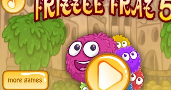 Linksmas žaidimas vaikams - Frizzle Fraz 5. Šokinėkite per kliūtis su šokliuku.