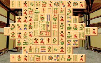 Mahjong žaidimas apie gausybę kortelių