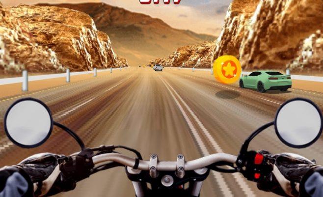 Super greitas vairavimo žaidimas su motociklais.
