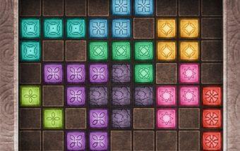 Loginis žaidimas su Tetris kaladėlėmis.
