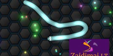 Įgūdžių žaidimas valdyti gyvatėlę.