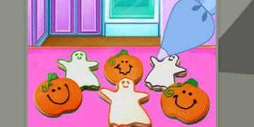 Helouvyno žaidimas Helouvyno sausainiai.