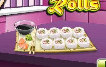 Žaidime sužinok kaip pagaminti Sushi.