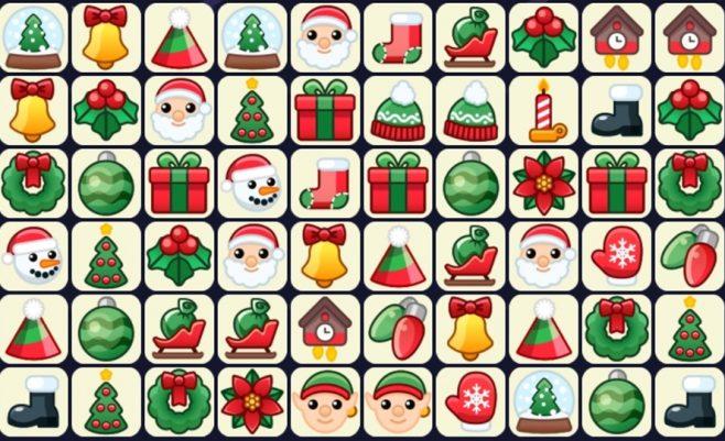 Kalėdinis mahjong žaidimas
