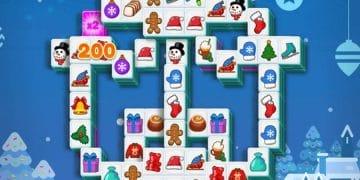 Šventų Kalėdų žaidimas Kalėdinių saldainių mahjong.