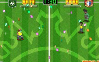 Smagus futbolo sporto žaidimas