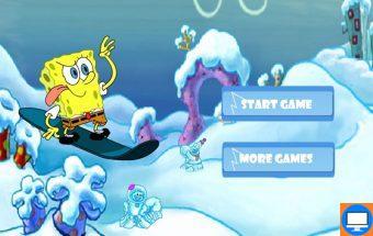 Žaidimas Kempiniuko slidės. Tai puikus žaidimas mažiesiems, kuriame reikia padėti Kempiniukui Plačiakelniui įveikti slidinėjimo trasą, kol jos neužgriuvo piktojo Planktono sukelta sniego lavina. Žiemos slidinėjimo sezonas Bikini Botomo miestelyje yra visuomet labai laukiamas, todėl yra būtina sustabdyti Planktono užmačias. Valdyti Kempiniuko slides ir čiuožimo trajektoriją galėsi klaviatūros rodyklių pagalba. Svarbu stengtis išvengti kuo daugiau kliūčių nusileidimo nuo kalno ruože, kadangi taip galėsi sutaupyti laiką ir spėti įveikti visą čiuožimo kelią laimingai.