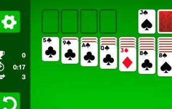 Žaidimas su kortomis - Solitaire. Tai klasikinis solitaire žaidimas.