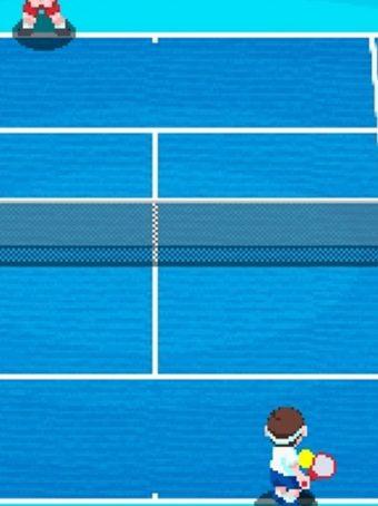 Komandinis tenisas, įveikt priešininkų komandą ir tapk nugalėtoju.