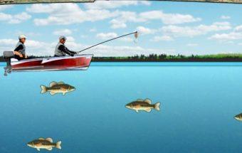 Sužinokite kur gerai kimba, žaidimas apie žvejybą