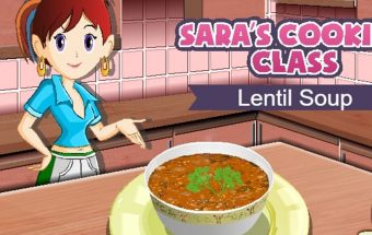 Žaidime sužinokite kaip daroma sriuba iš lešių.