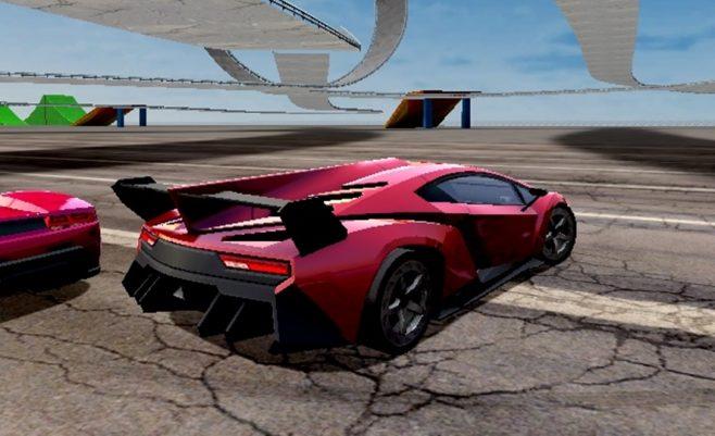 Lenktynės su Lamborghini automobiliu - Zaidimai.lt