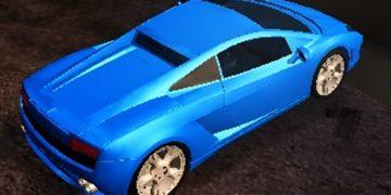 Lenktynių žaidimas su Lamborghini, lamborghini driftas internete.
