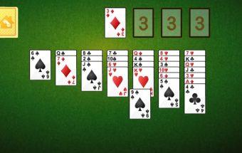 Atnaujintas žaidimas laukinių vakarų solitaire.